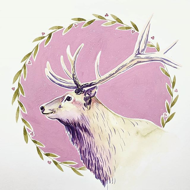 Hello Mister #petelk? 085-86/100 #100daysoflibbydrawspetportraits @watercolordevo @skillshare #animalportraits #watercoloranimalportrait