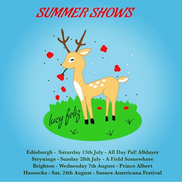 Some summer shows coming up. Today starting with @okpalrecords alldayer in #edinburgh #wassup