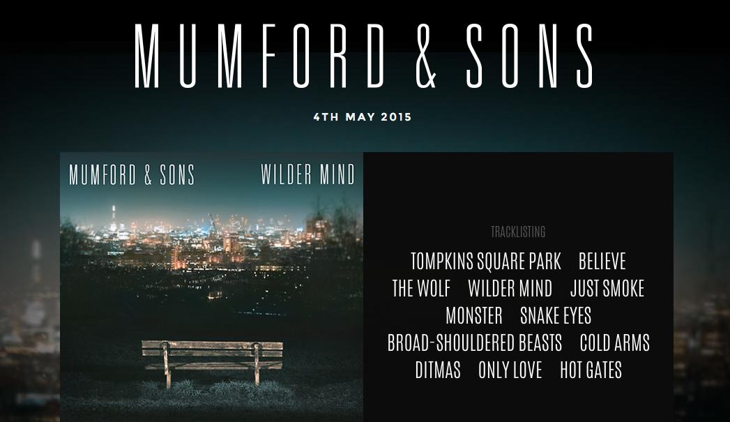 Screen Shot of Mumford & Sons Website II