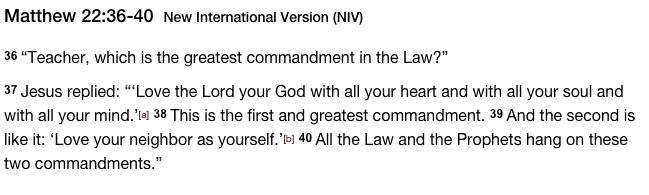 Matthew 22:36-40