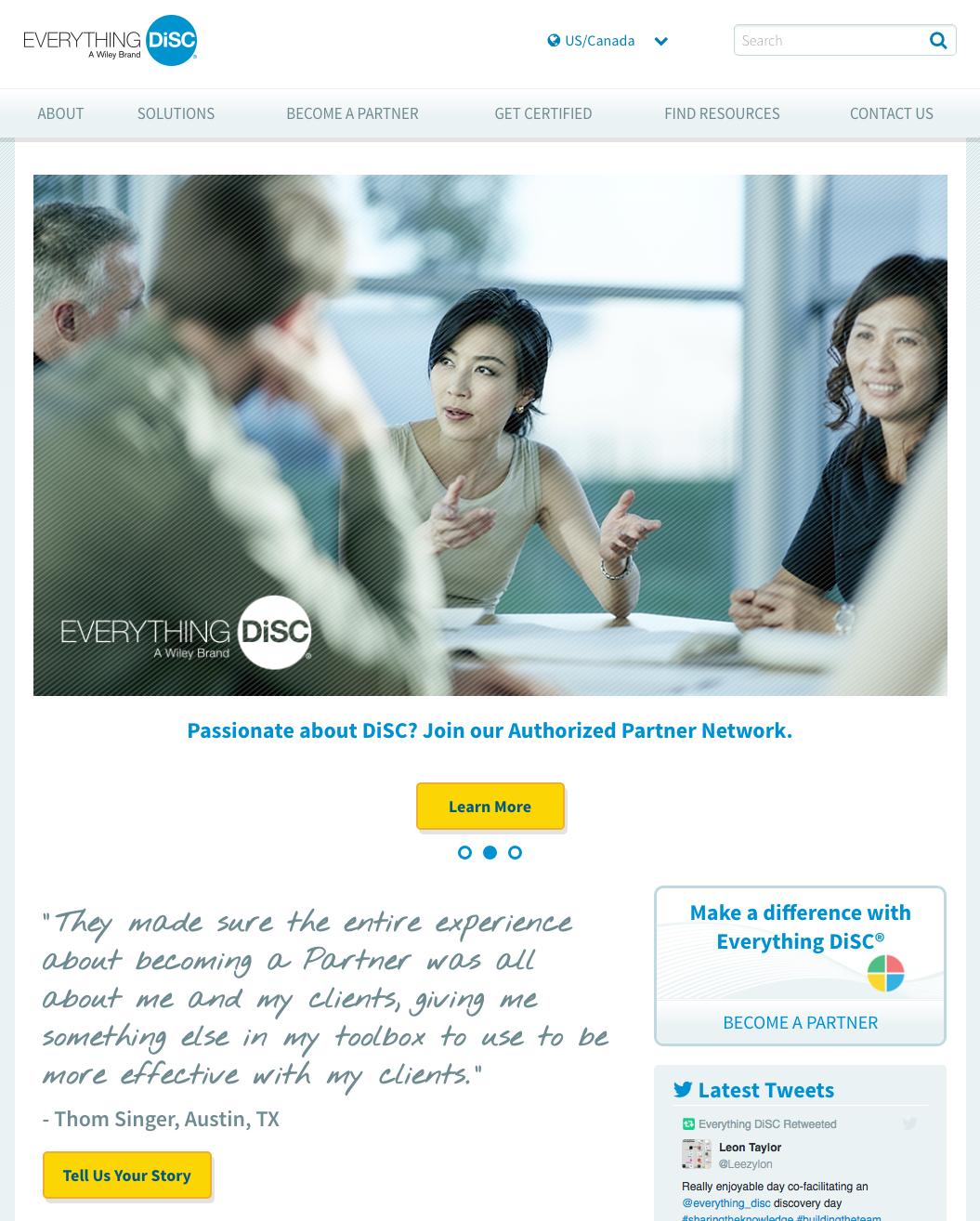 EverythingDiSC website