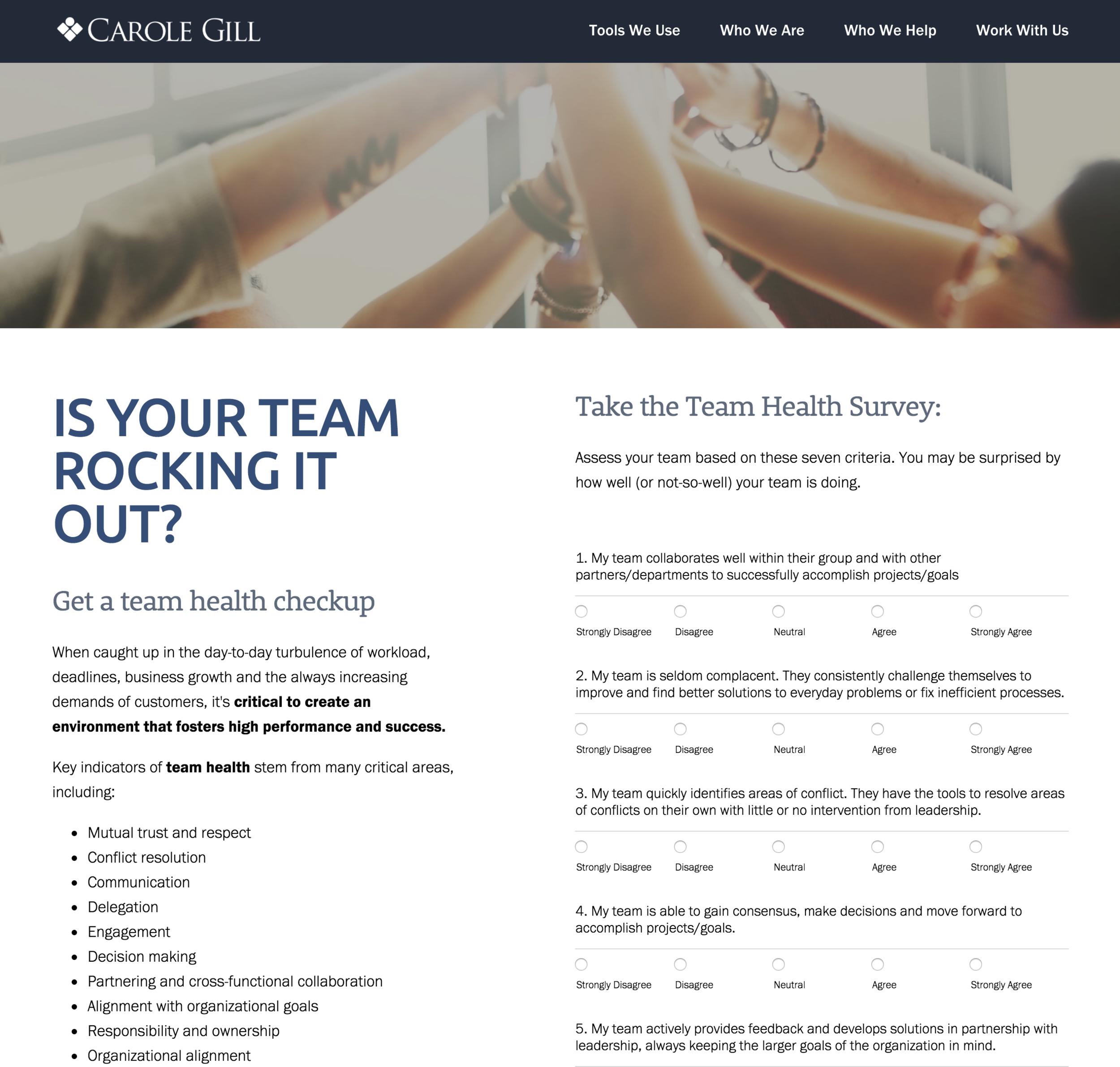 Team Health Survey