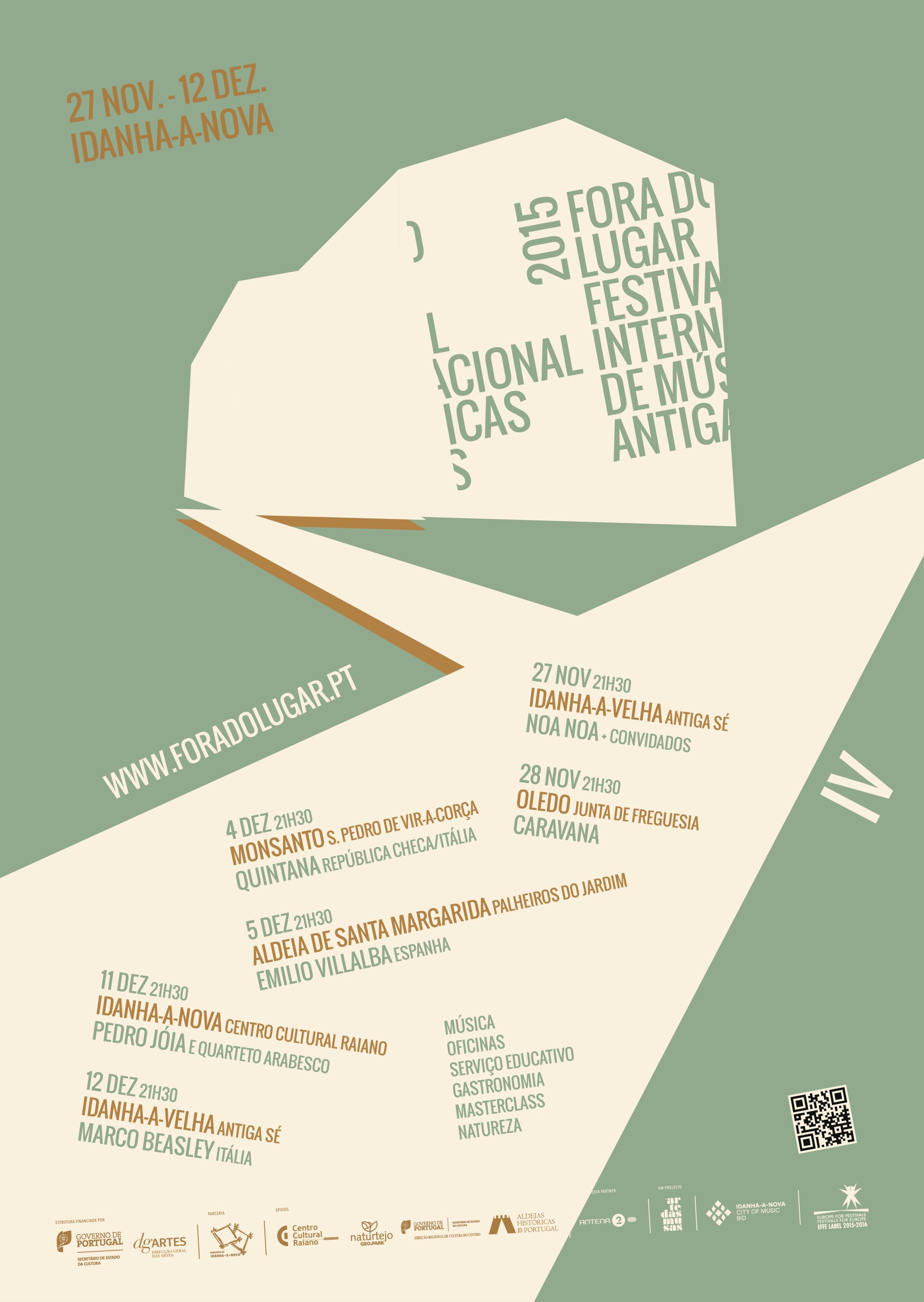 Cartaz Fora do Lugar 2015