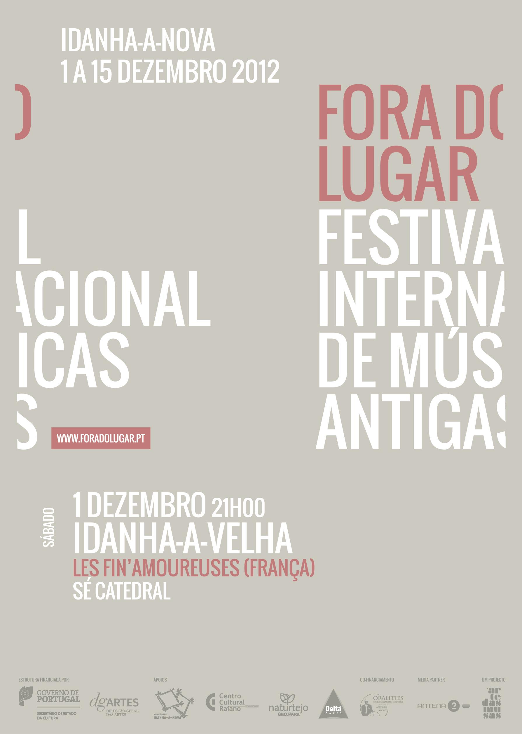 Cartaz (Les Fin'Amoureuses) Fora do Lugar 2012
