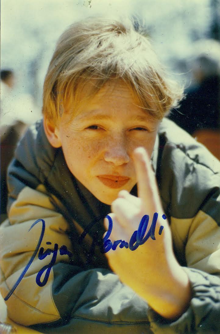 1984: Erste offizielle Autogrammkarte von Jürgen Pornelli