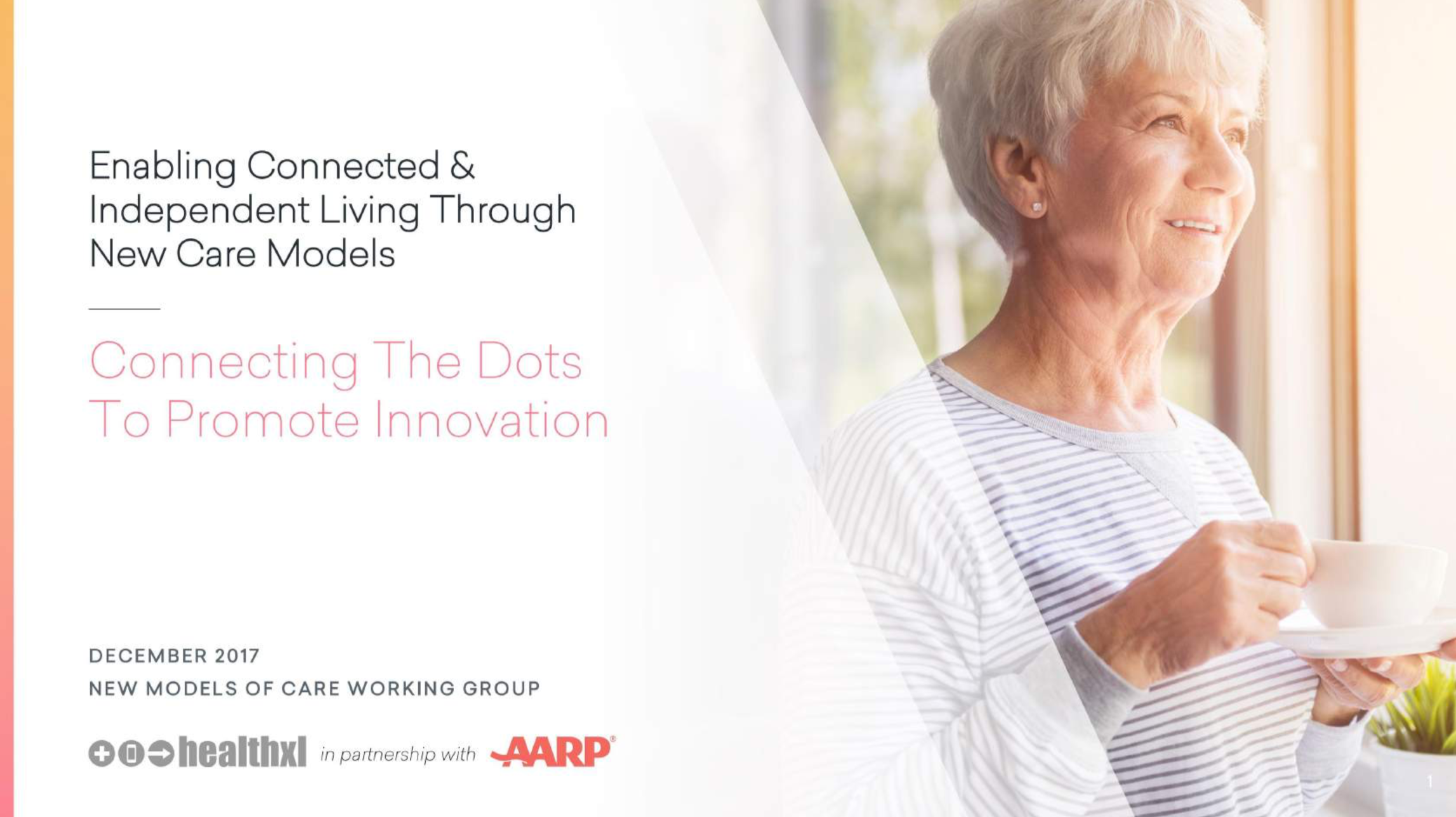 Enabling Connected & Independent Living Through New Care Models - December 2017. Volar Health, AARP, and HealthXL co-authored a report highlighting the ways digital health can impact senior living. It also highlights perspectives from venture capitalists on what it takes to succeed in this market. Click on the title to download the report.