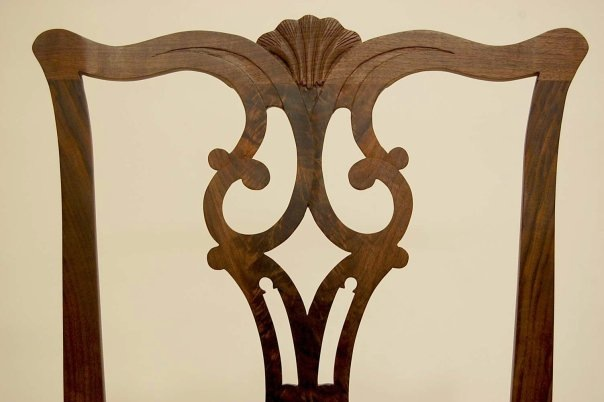 Detail of Walnut Dining Chairs