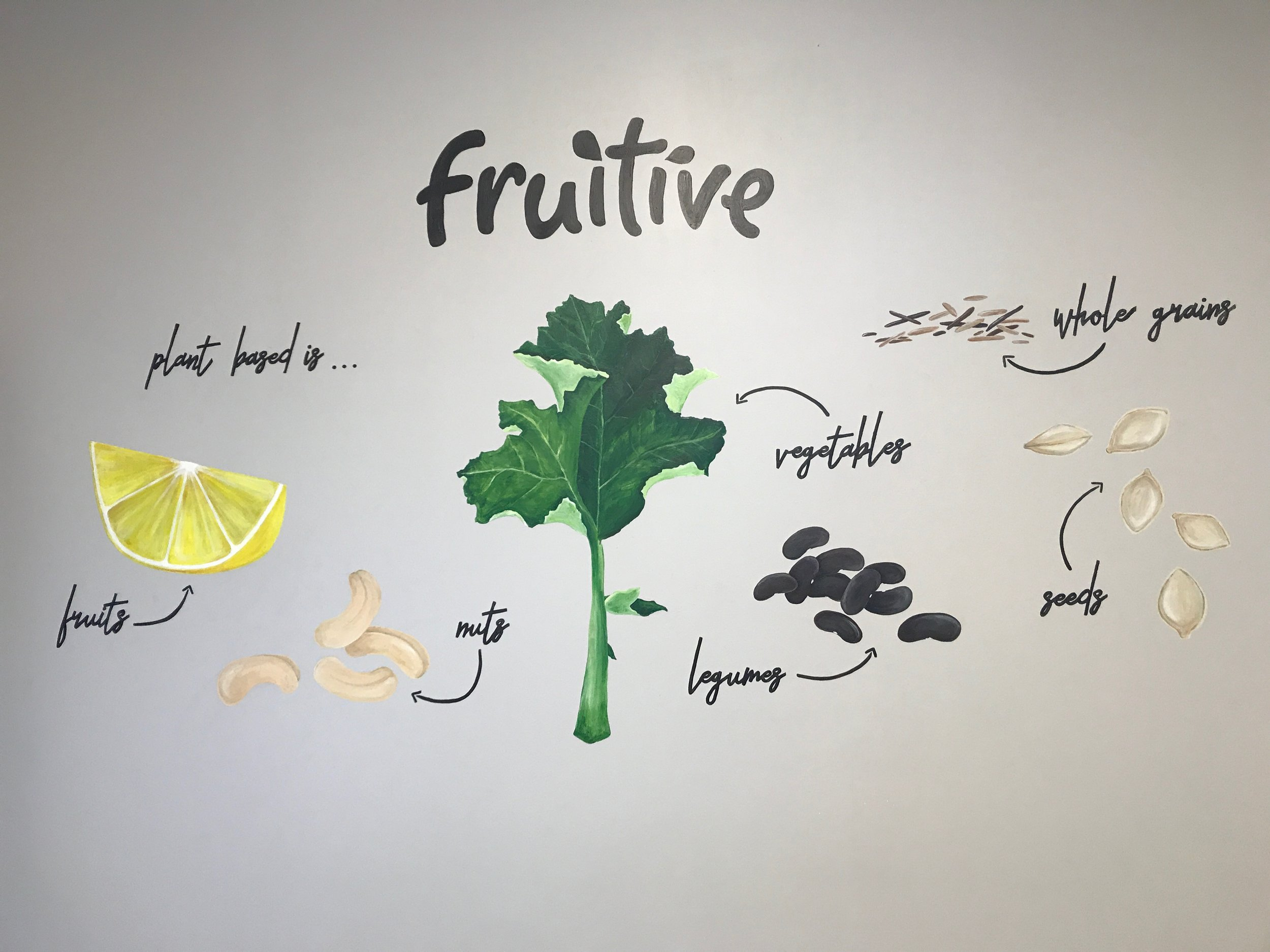 We're in love with the mural that local artist, Katie Driscoll, did for this store!