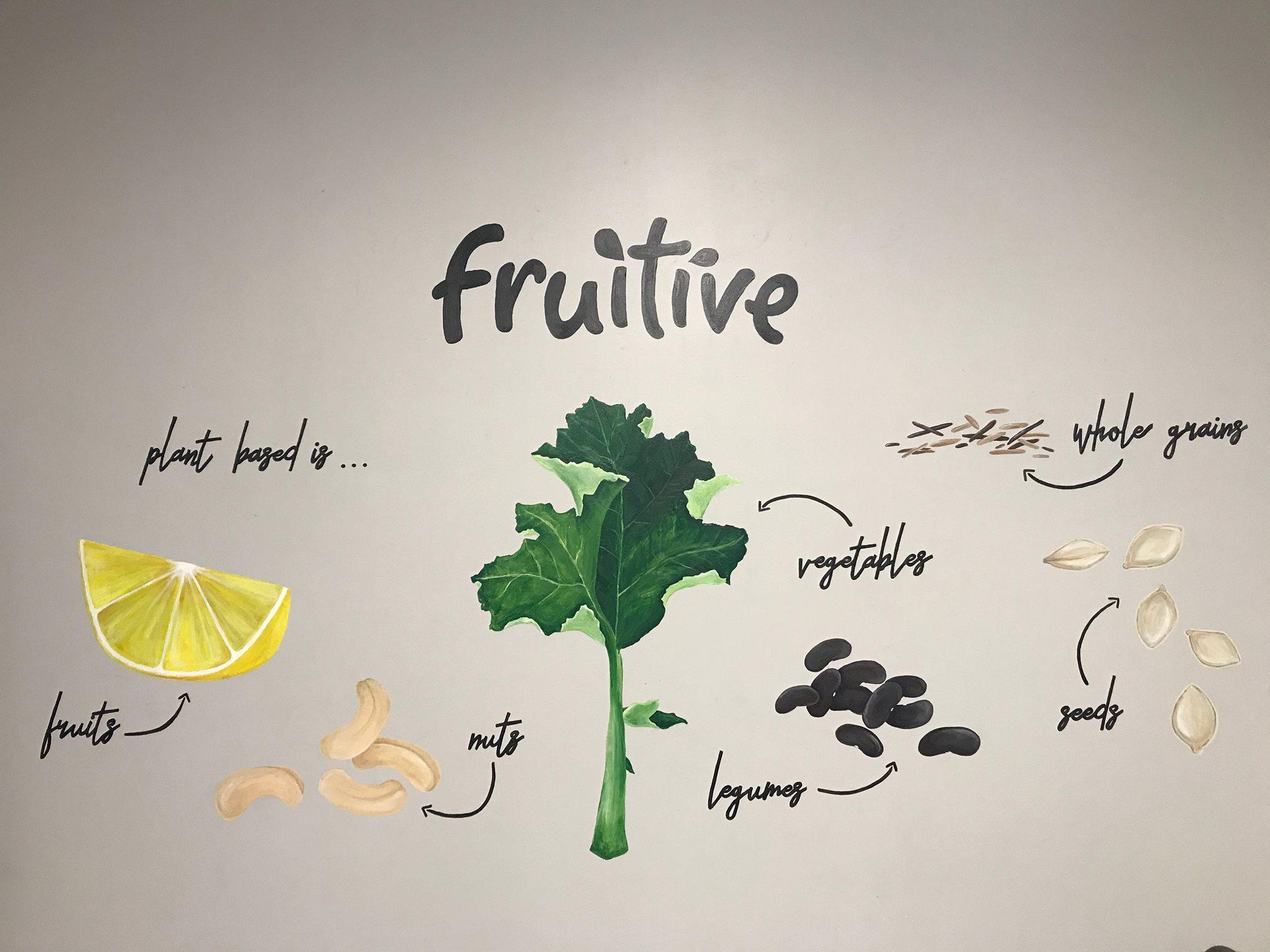 plant based restaurant mural