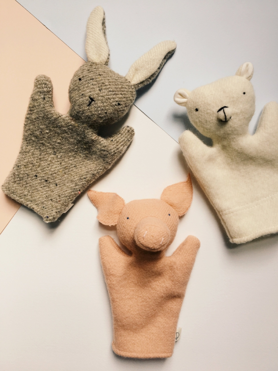 Ouistitine's hand puppets make for quality imaginative play amongst children and parents alike!