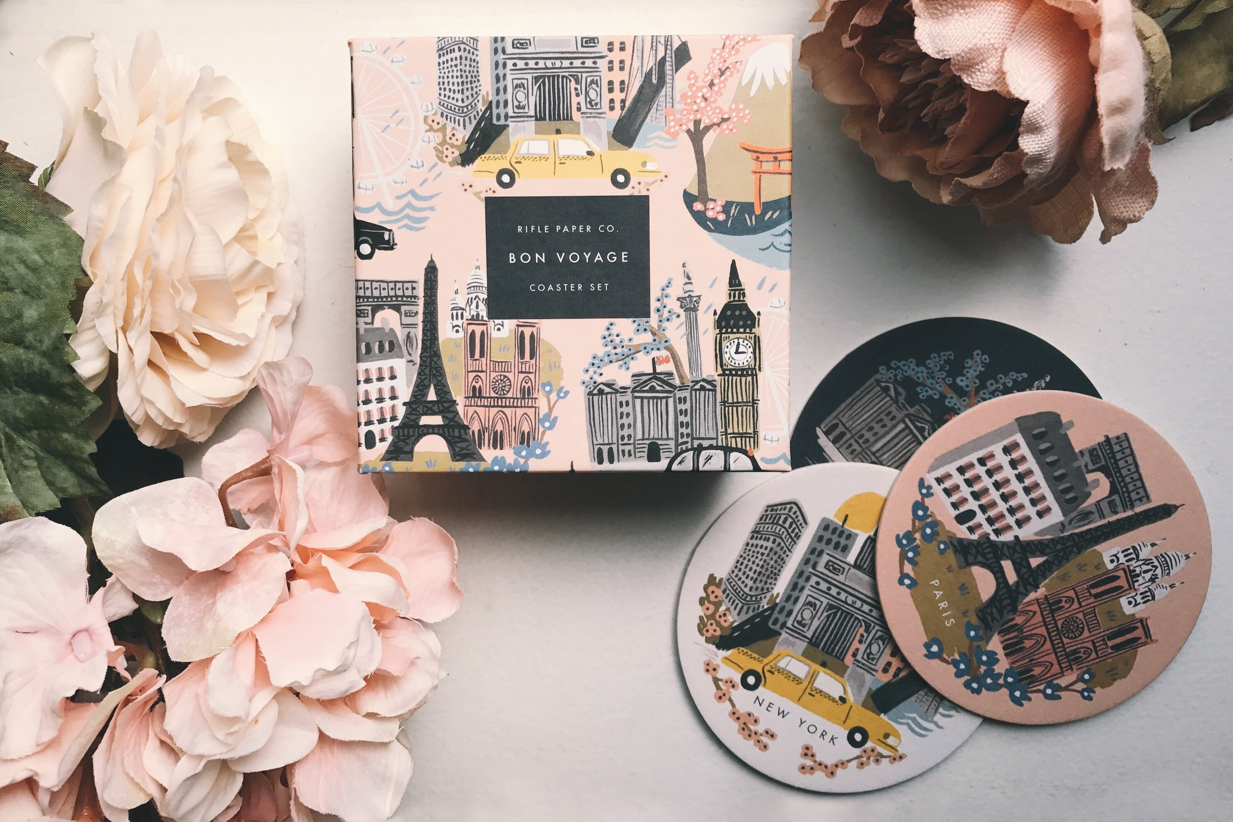 rifle paper co coasters at the qg