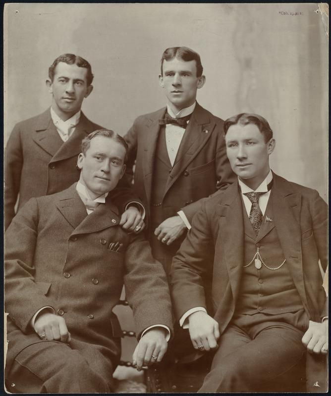 "The ""Big Four"" Standing left to right Keeler and McGraw, seated left to right Kelley and Jennings"