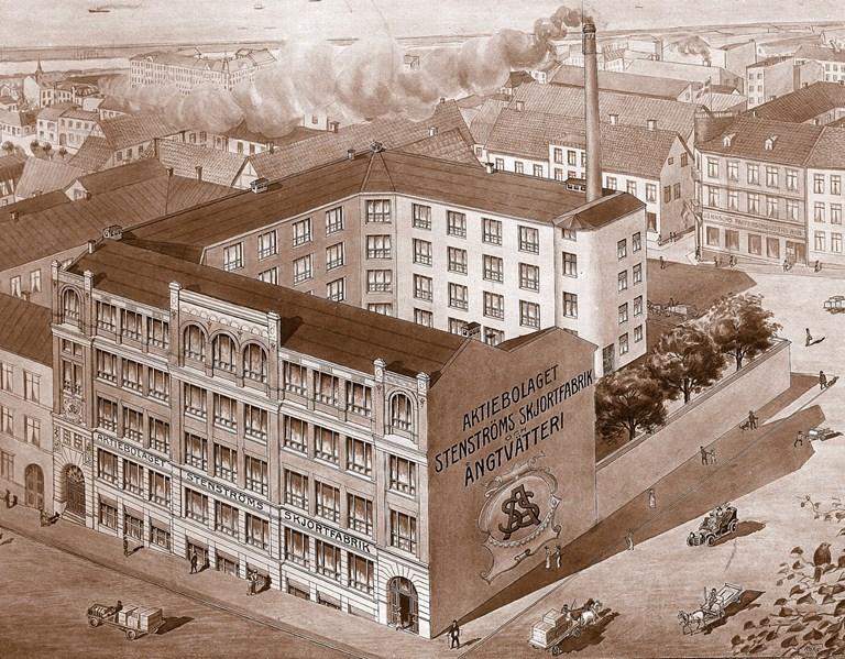 Stenströms Shirt Factory, Helsingborg circa 1922