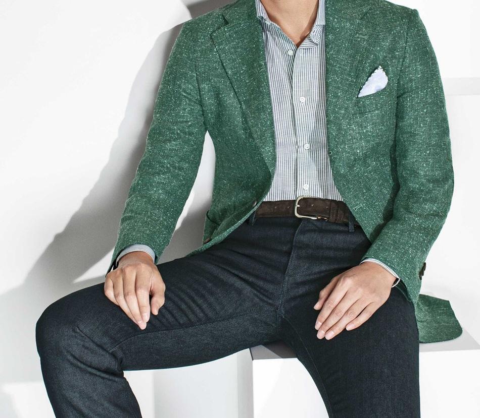 Linen Tweed Jacket by Loro Piana, 8458.