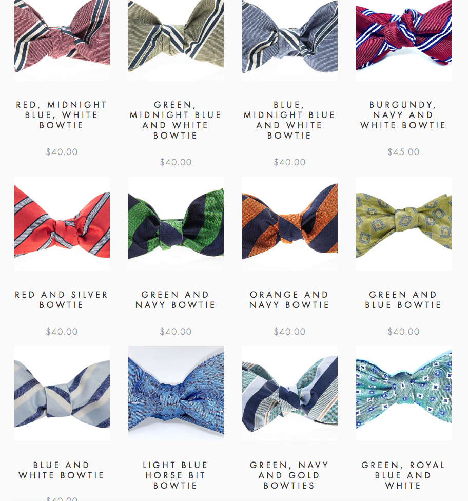 Go online to see the rest of our bowtie options.