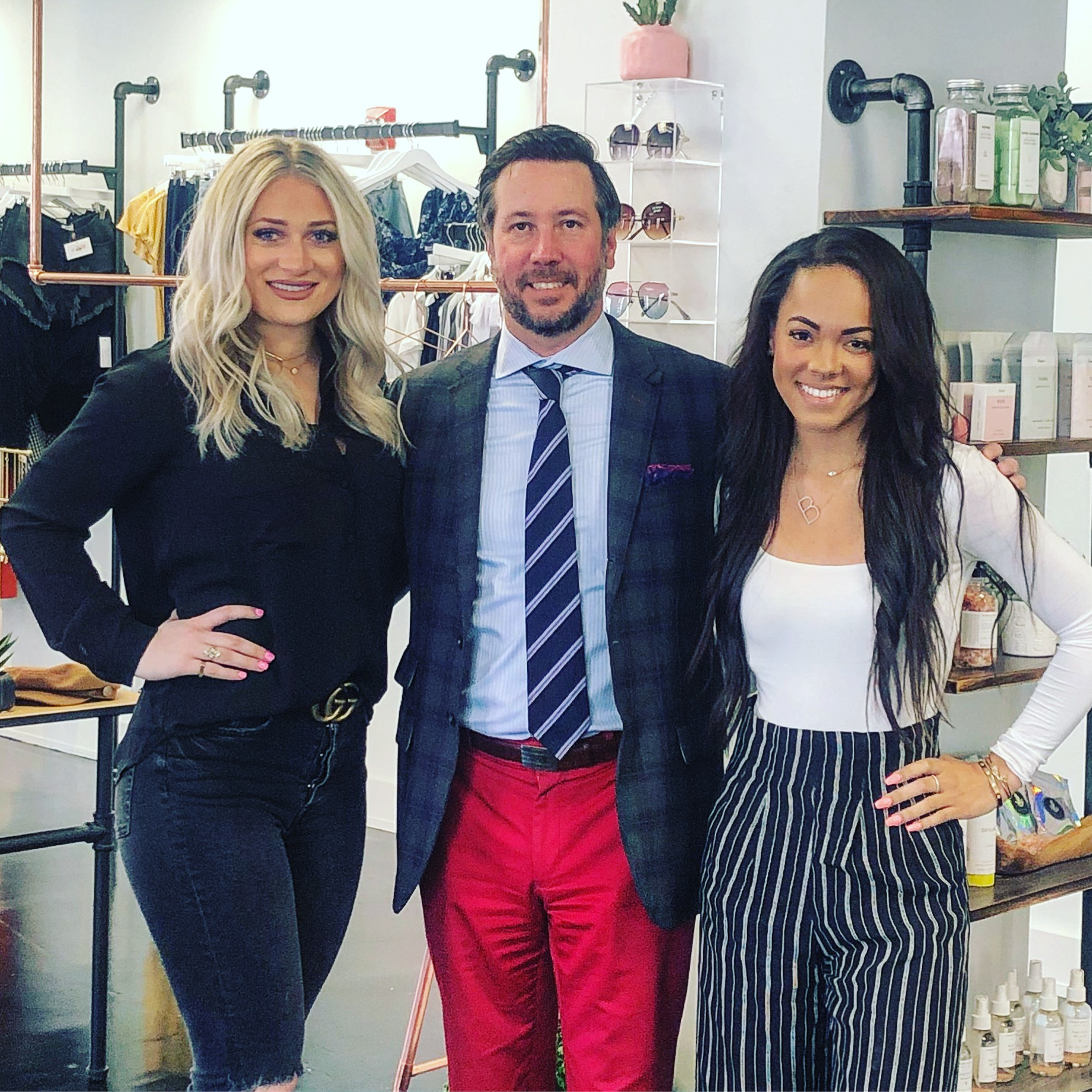 Taylor Salandra and Brianna Volatile, founders and owners of Four One Oh and Brunette & Co with Craig Martin, founder of The QG