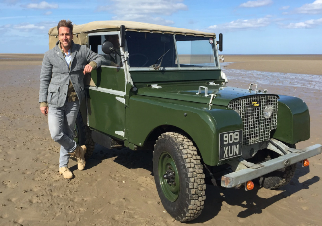Reporter and Author of a Land Rover book: Ben Fogle