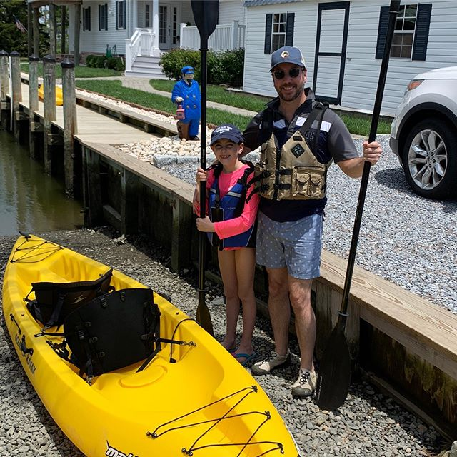 Father's Day weekend at the beach and on a kayak😎