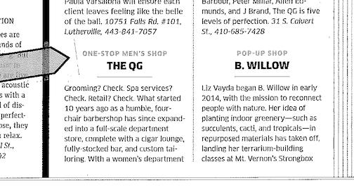 Baltimore Magazine 2015, Best of Baltimore: Best One-Stop Men's Shop