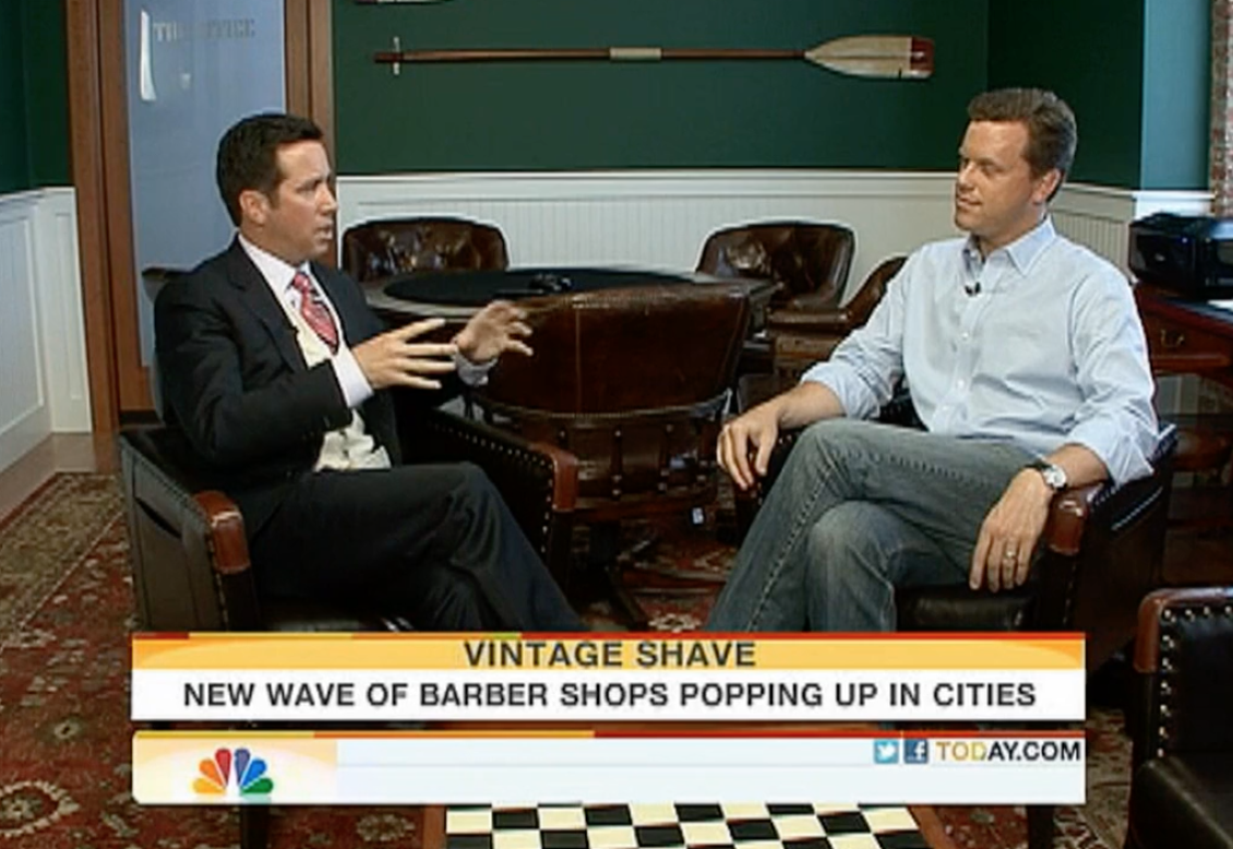 NBC Morning Show, New Wave of Barber Shops featuring Willie Geist and Lester Holt