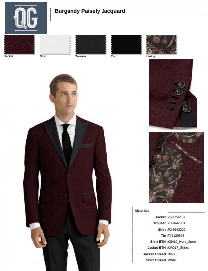 Formal wear one button peak collar dinner jacket