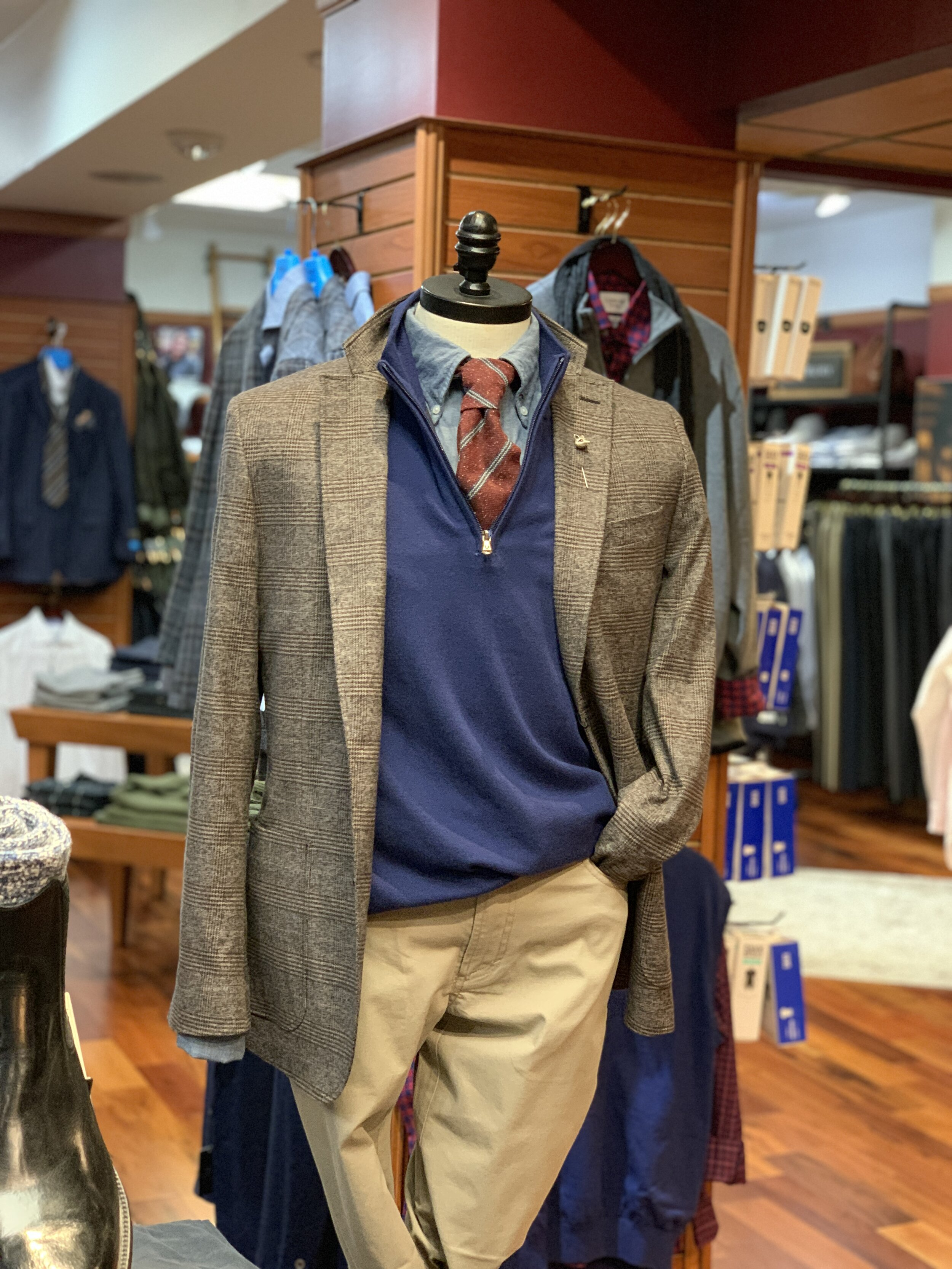 PB Sportcoat, Mizzen & Main Pullover, Duck Head Chinos, Drake's Button Down Shirt, QG Neckwear