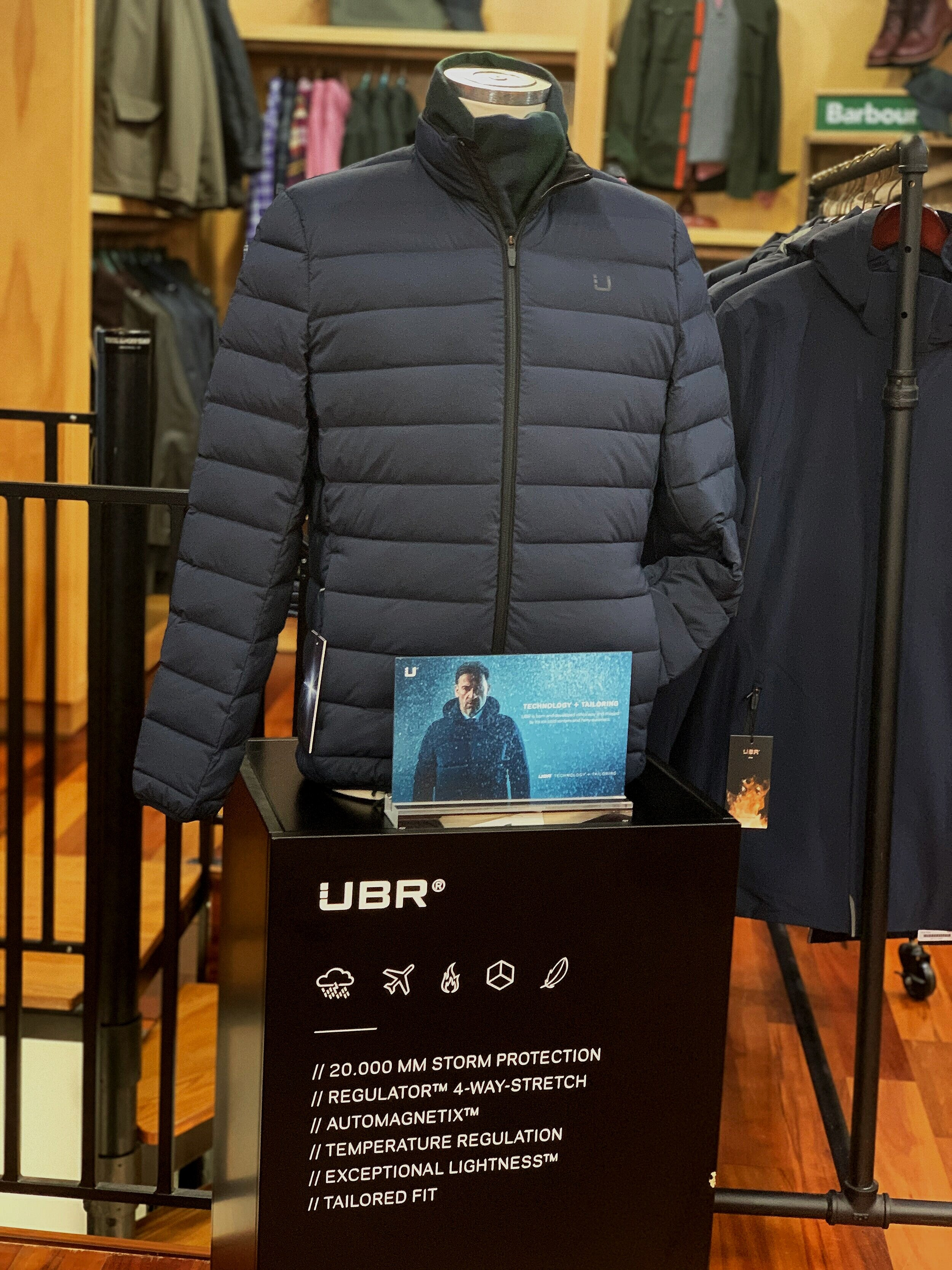 UBR Sonic Jacket, Barbour Plaid Scarf