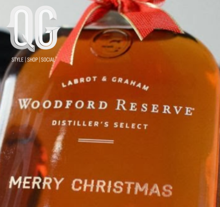 An Engraved Bottle from Woodford Reserve available on Wednesday December 18th.