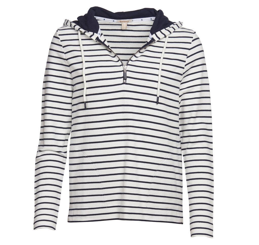 Barbour Seaboard Overlay Navy & White Sweatshirt