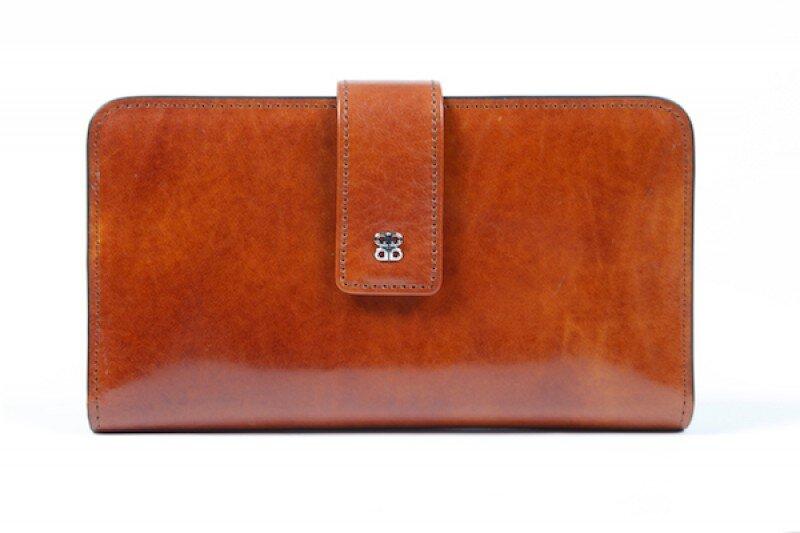 Leather Checkbook Clutch by Bosca