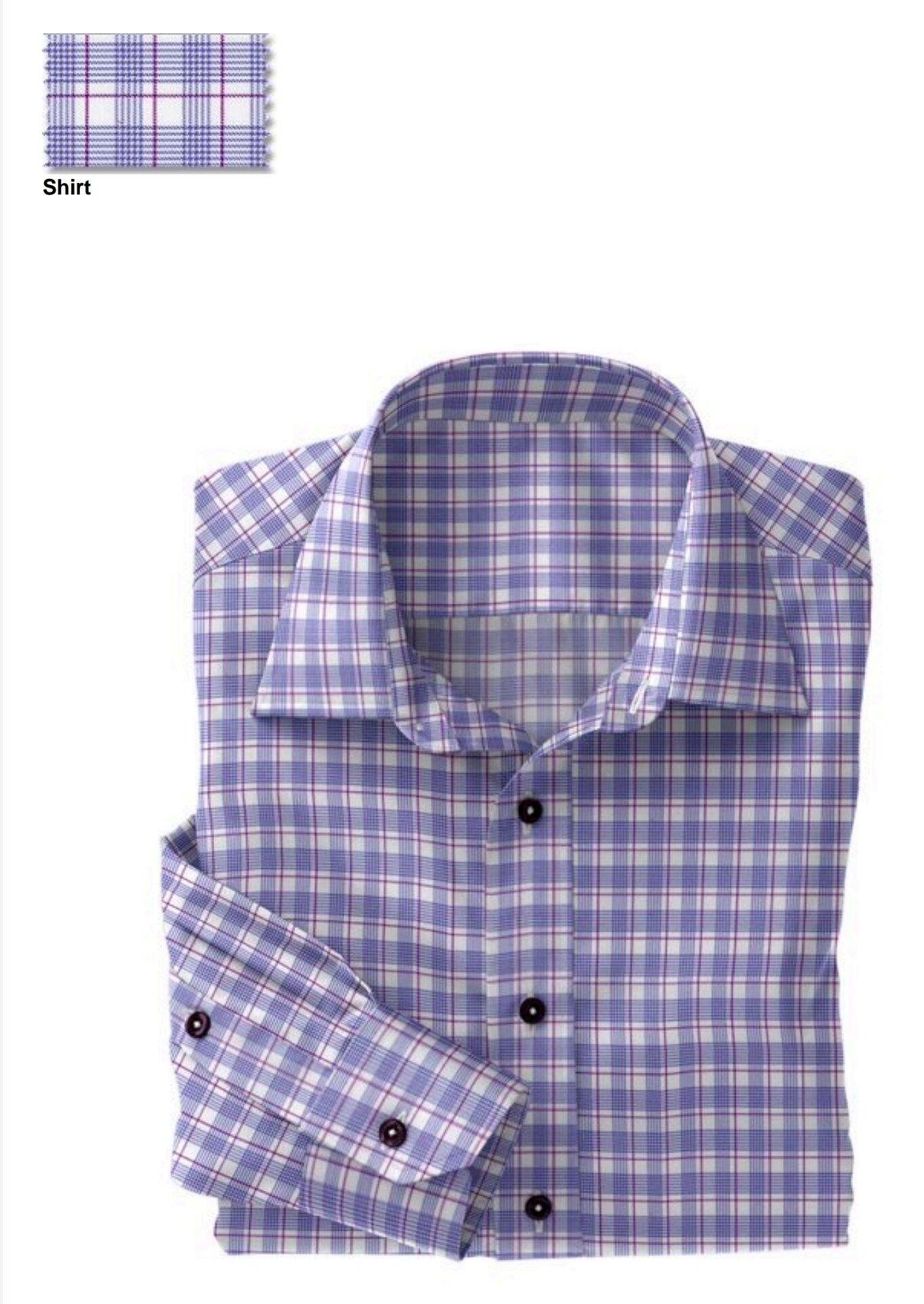 Fabric:  N5-4074721  Blue Violet Plaid (91% Nylon 9% Spandex)