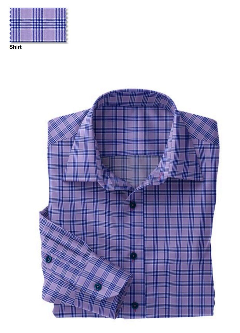 Fabric:  N5-4074728  Lavender Blue Check (91% Nylon 9% Spandex)