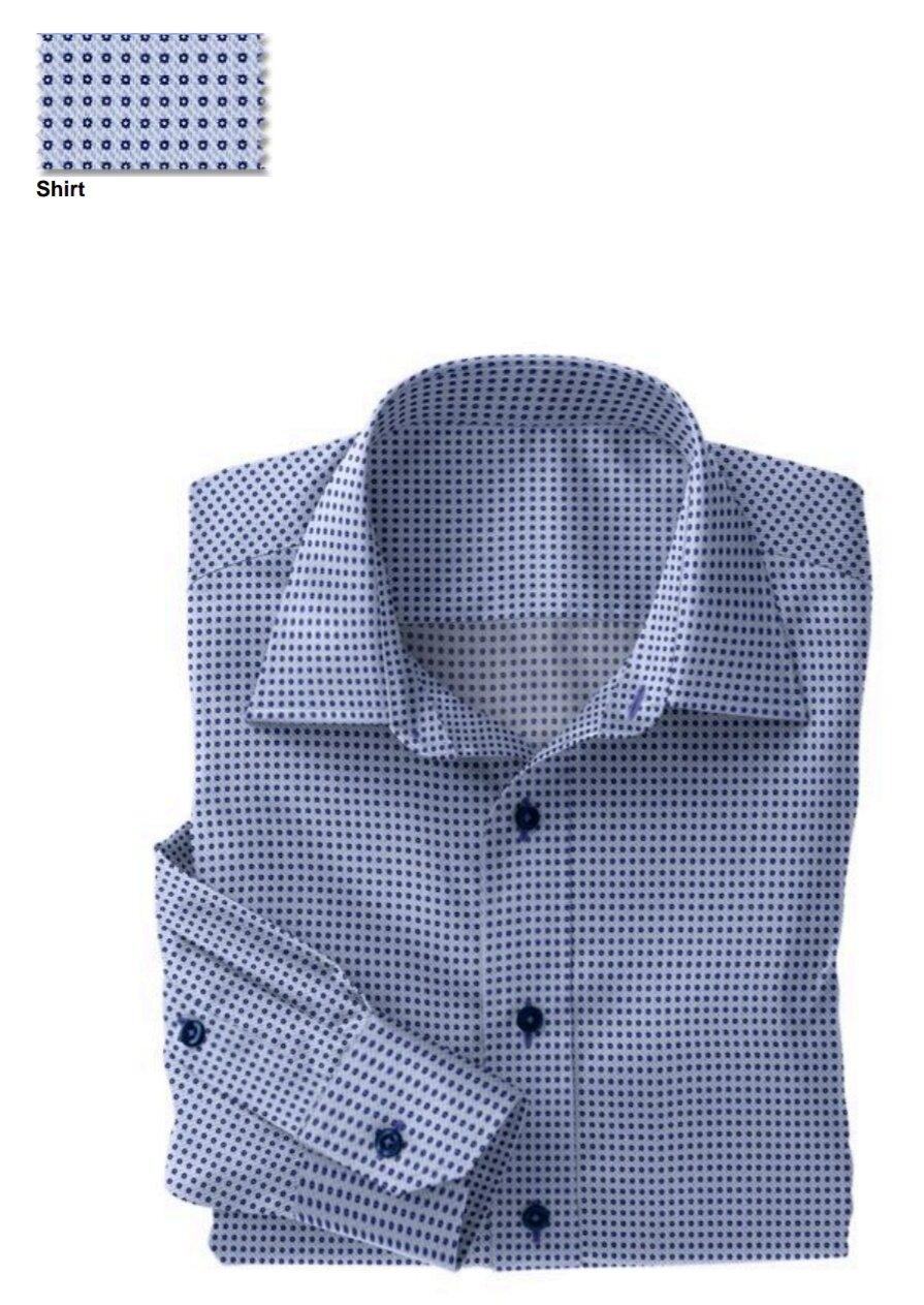 Fabric:  N5-4074764  Blue Navy Dot Print (100% Cotton)