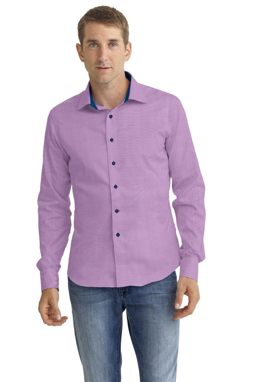 Fabric:  N5-4074738  Violet Check (91% Nylon 9% Spandex)