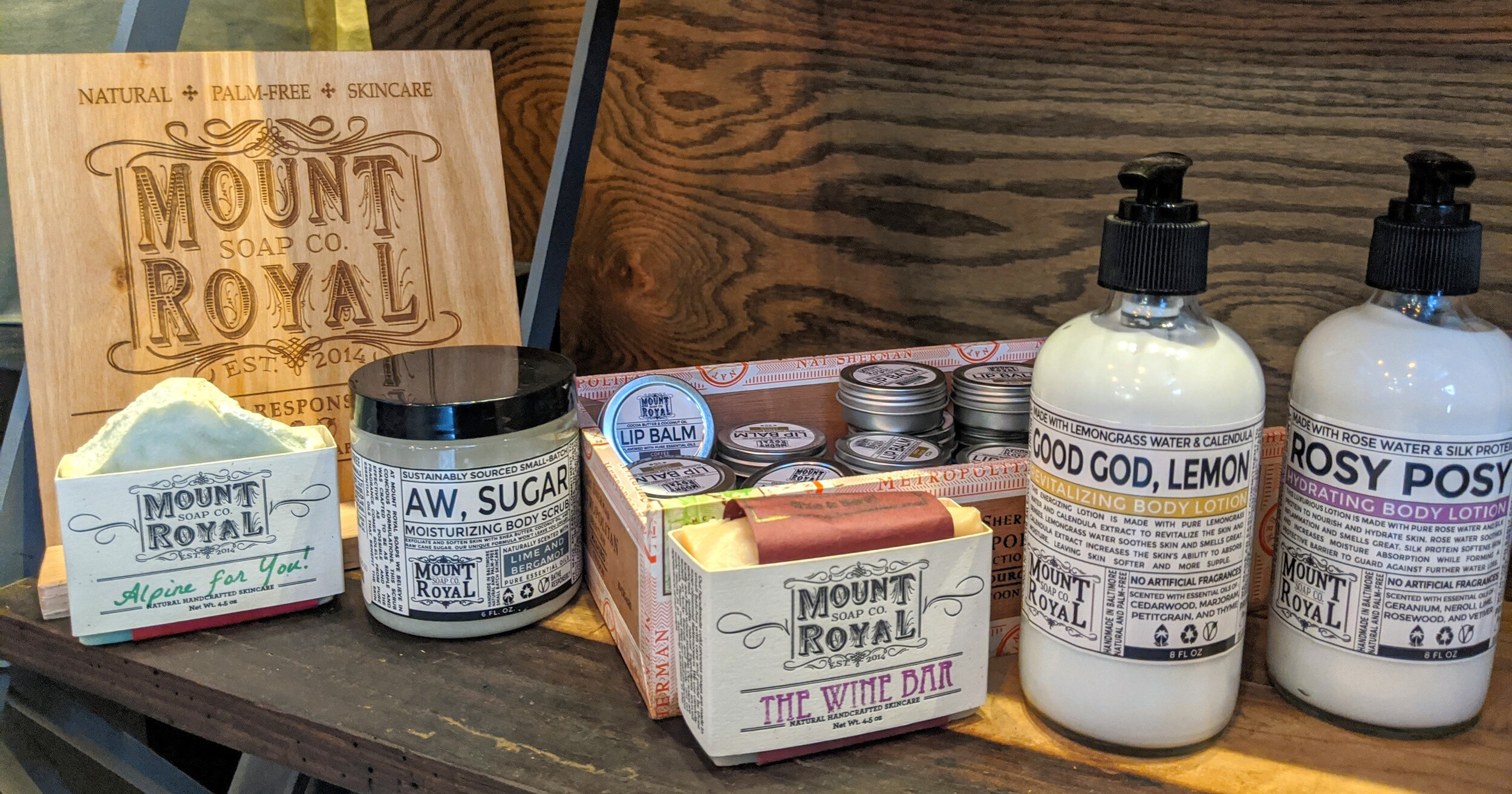 Check out the Mount Royal Soap products in our lobby!