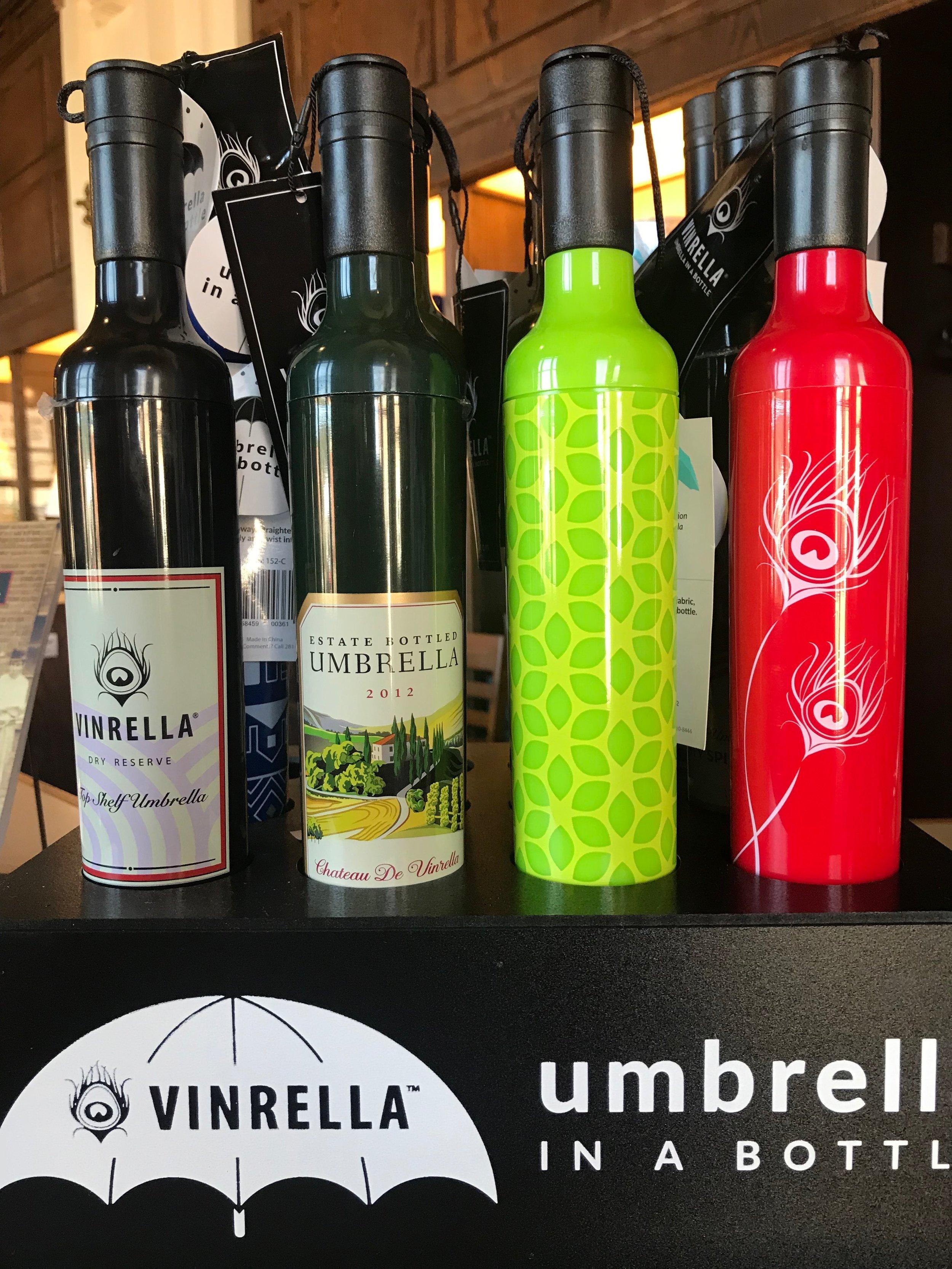 wine bottle umbrellas