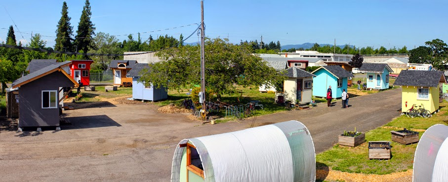 A example of a village already in operation: Opportunity Village in  Eugene, Oregon