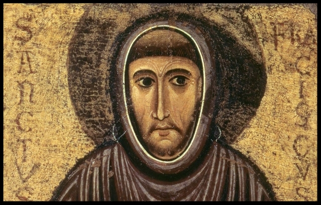 Saint Francis of Assisi (detail) by Cimabue