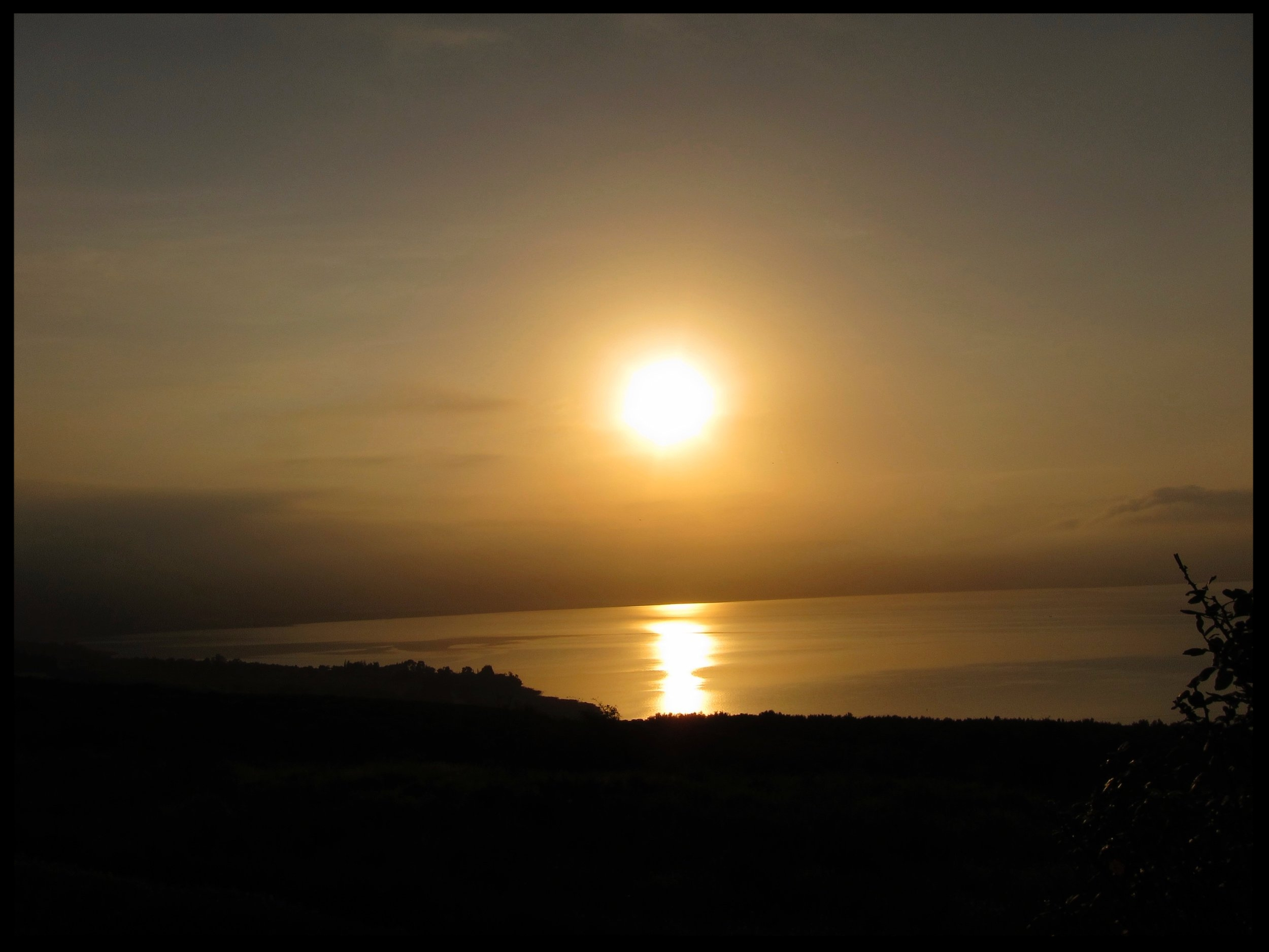 Sunset on the Mount of the Beatitudes
