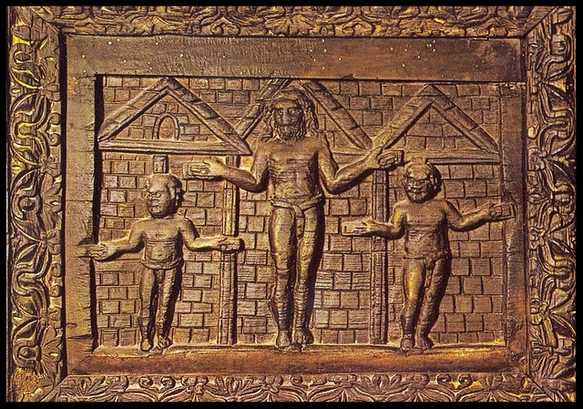 Earliest depiction of Christ's crucifixion - Doors of the Church of Santa Sabina, Rome 5th cent.