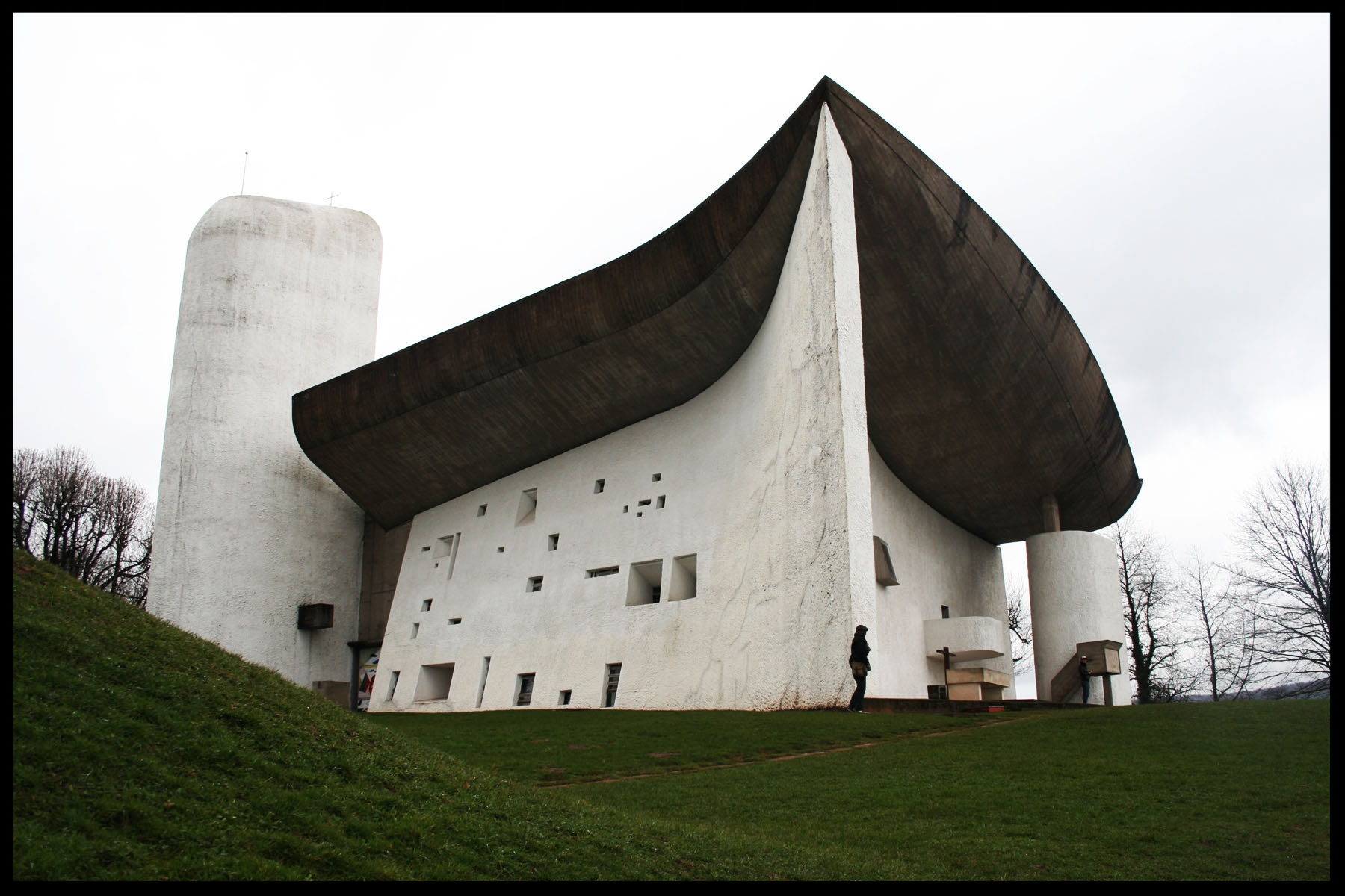 Le Corbusier Church at Ronchamp, France
