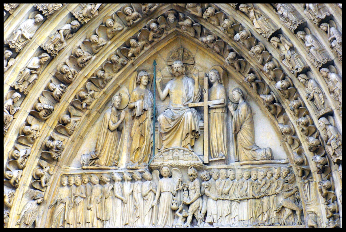 Tympanum of the Last Judgment - Notre Dame Cathedral - Paris