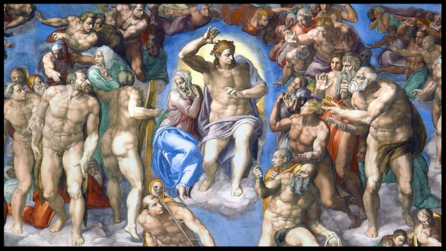 Last Judgment by Michelangelo - Sistine Chapel