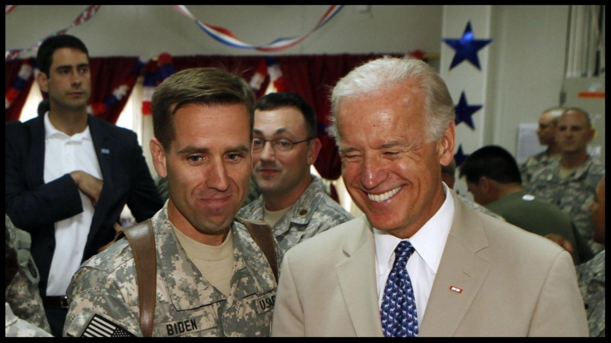 Beau Biden with his father, the former Vice-President, Joe Biden