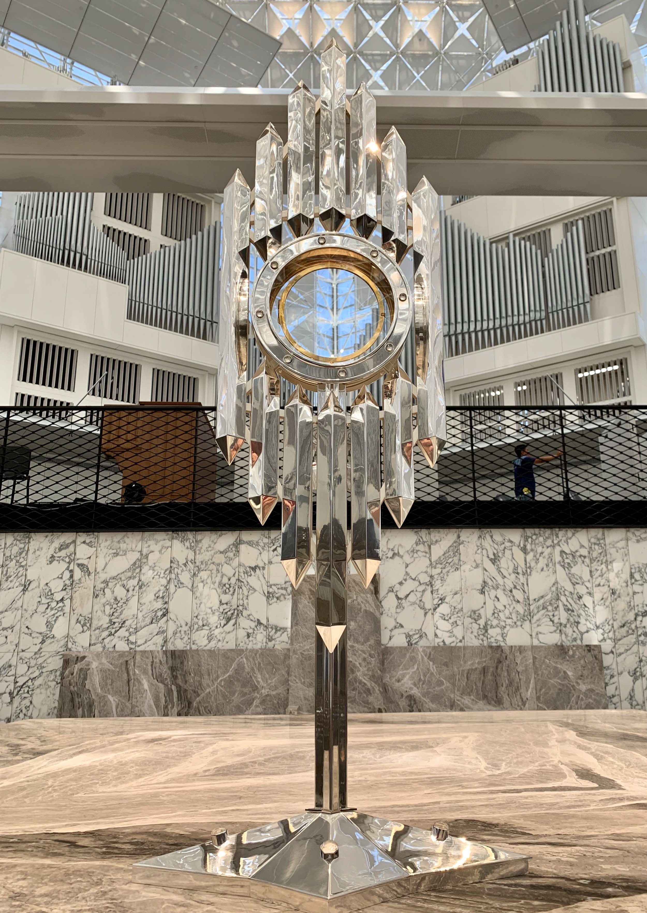 Custom monstrance for Christ Cathedral