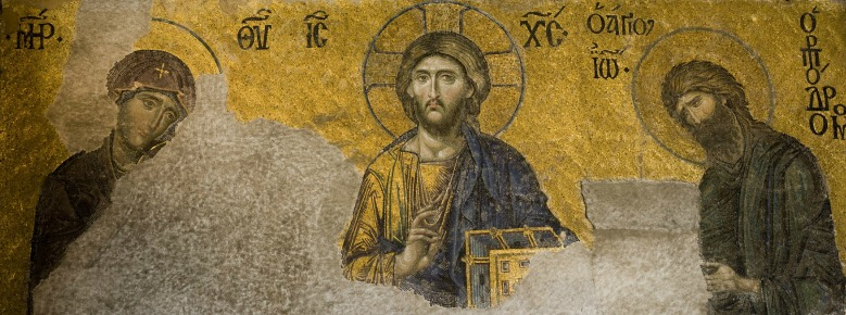 From the Deesis Mosaic, Hagia Sophia (Church of the Holy Wisdom) in Constantinople.
