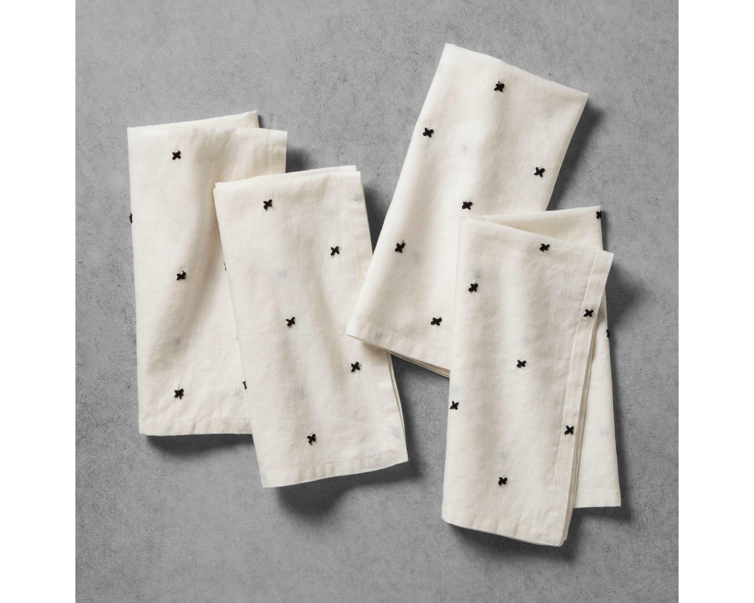X Cream Napkins - Mix and Match with the striped napkins for a more farmhouse look.
