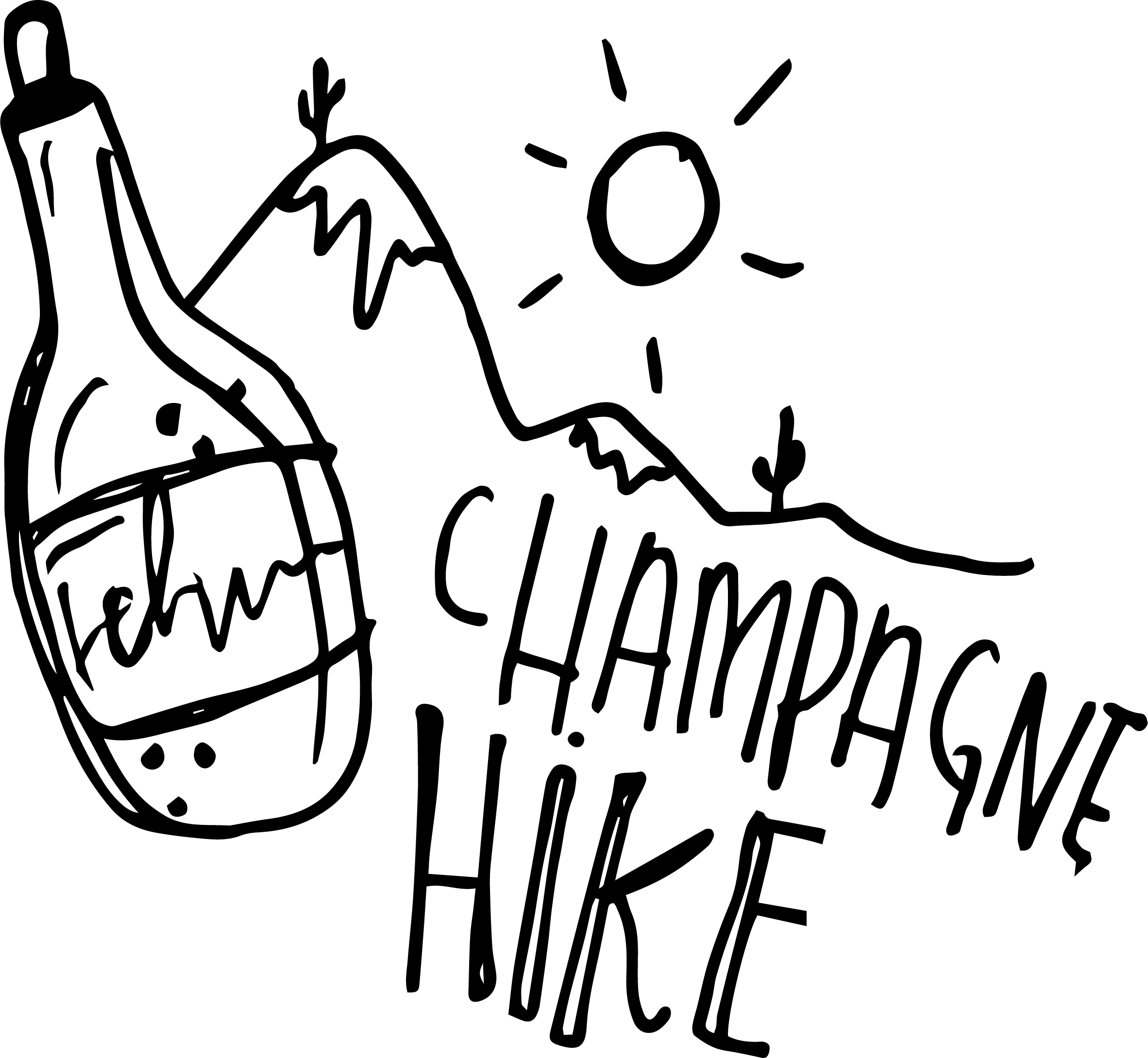 champagne hike - This date idea is one for those who love getting active, but also like to have a good time. Pack a bottle of champagne and a blanket in your backpack, throw on your sneakers and get to the peak of the mountain in time for sunset. Pop the bubbly, and take in the view!