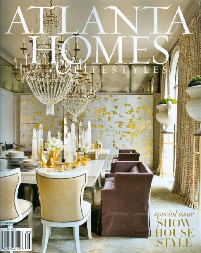 Bill Lowe Gallery Atlanta Homes & Lifestyles Cover w/ Artist Tom Swanston
