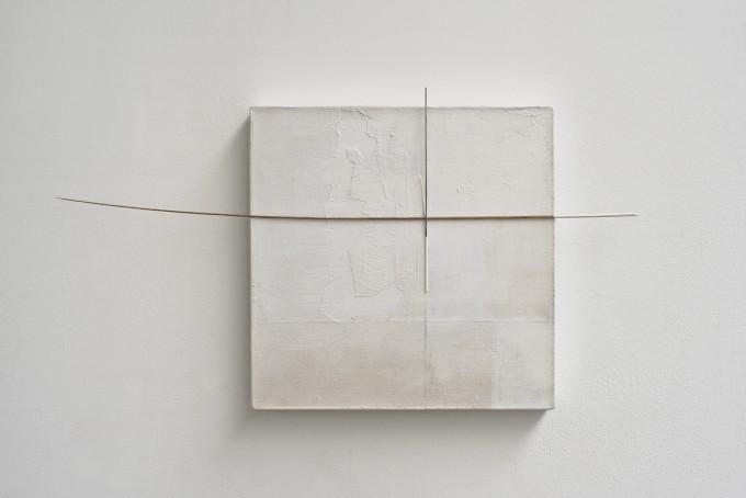 Fernanda Gomes (2014) Untitled. Canvas, wood, paint. 32 x 58 x 3.3cm